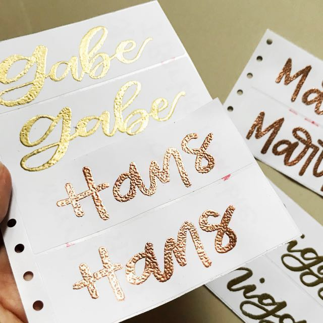 Personalized Embossed Sticker Labels