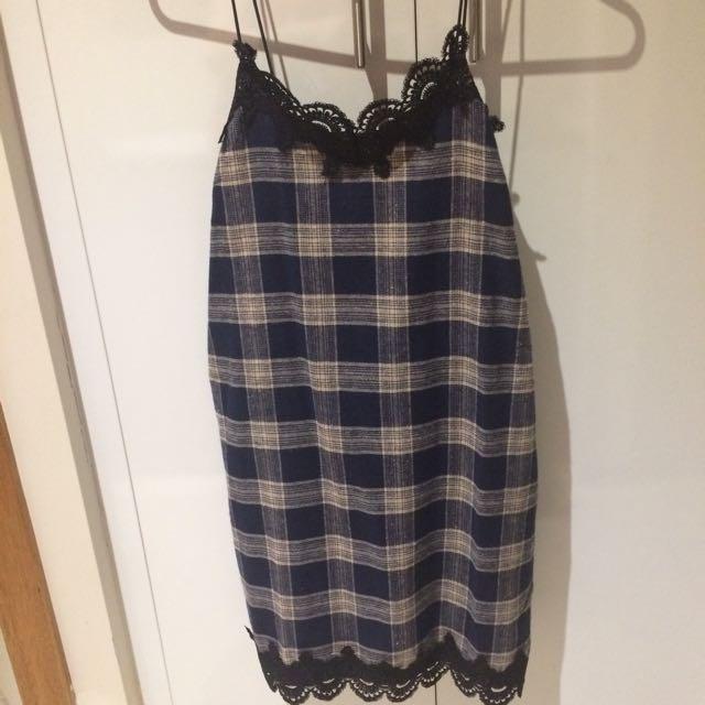 Plaid Cami Dress