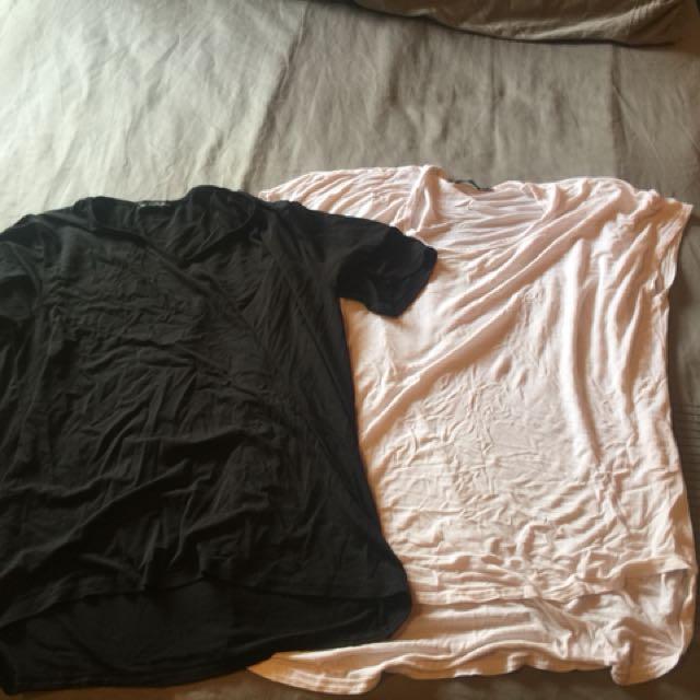 Plain black & white tee shirts
