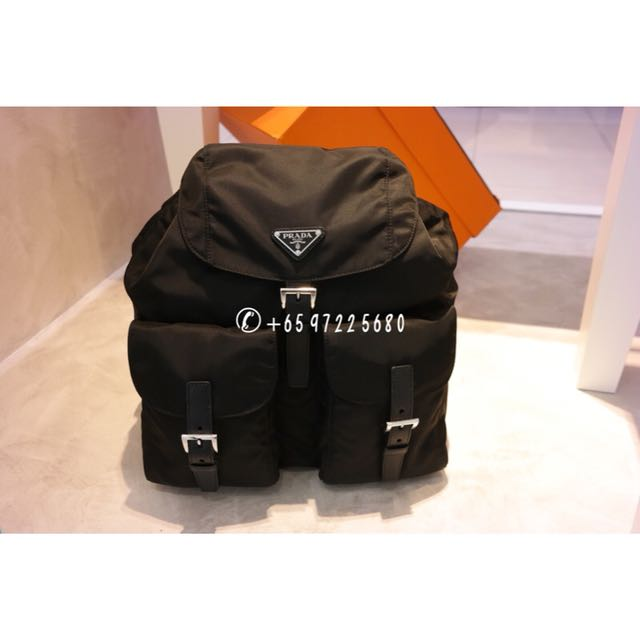 2166ec0ea882 Prada Classic Backpack Black 1BZ811, Luxury, Bags & Wallets on Carousell