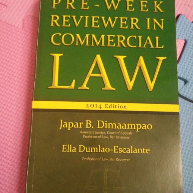 Pre Week Commercial Law Dimaampao