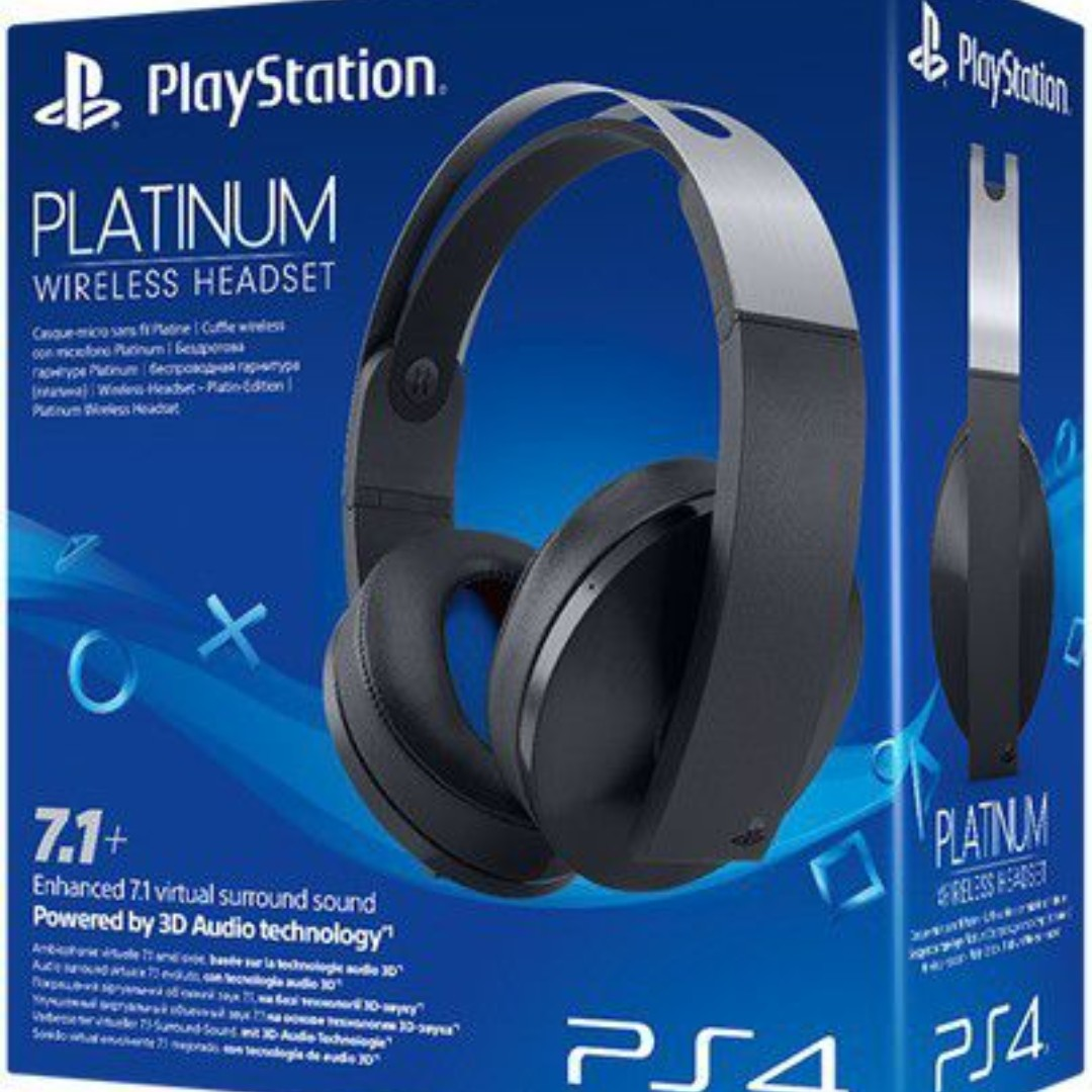 Ps4 Officiel Sony Playstation Platinum 7 1 Wireless Stereo Headset 7805circuit1 Video Gaming Rh My Carousell Com