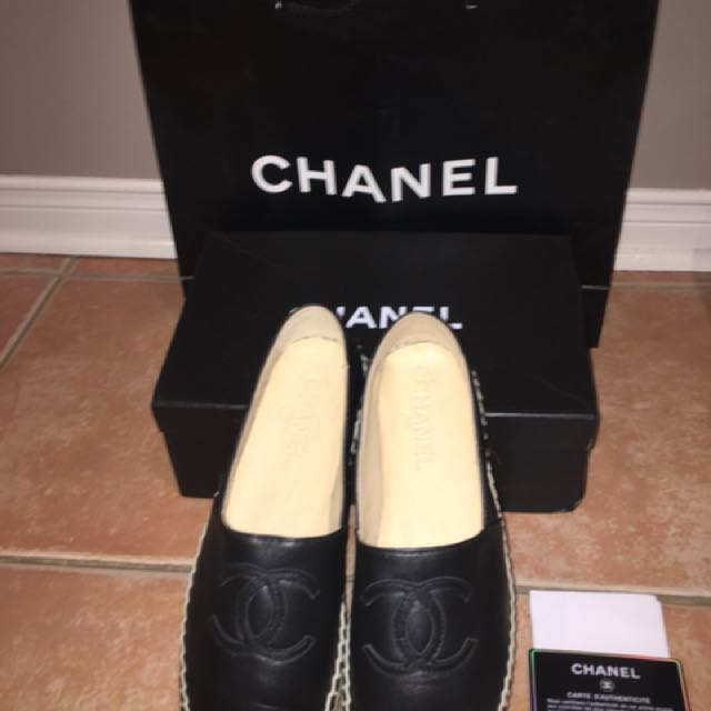 Real Leather Chanel Espadrilles
