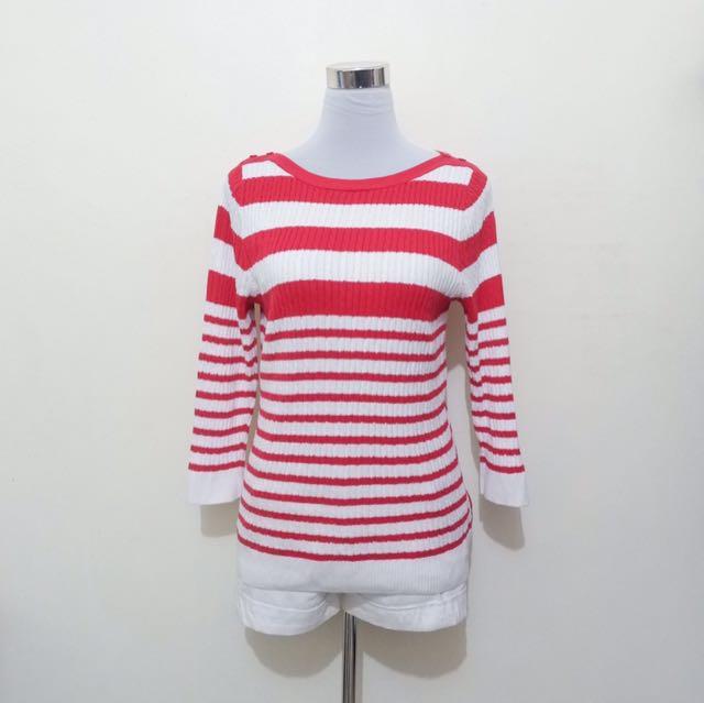 Red & white stripes LS