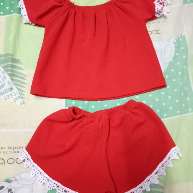 Red terno for girls