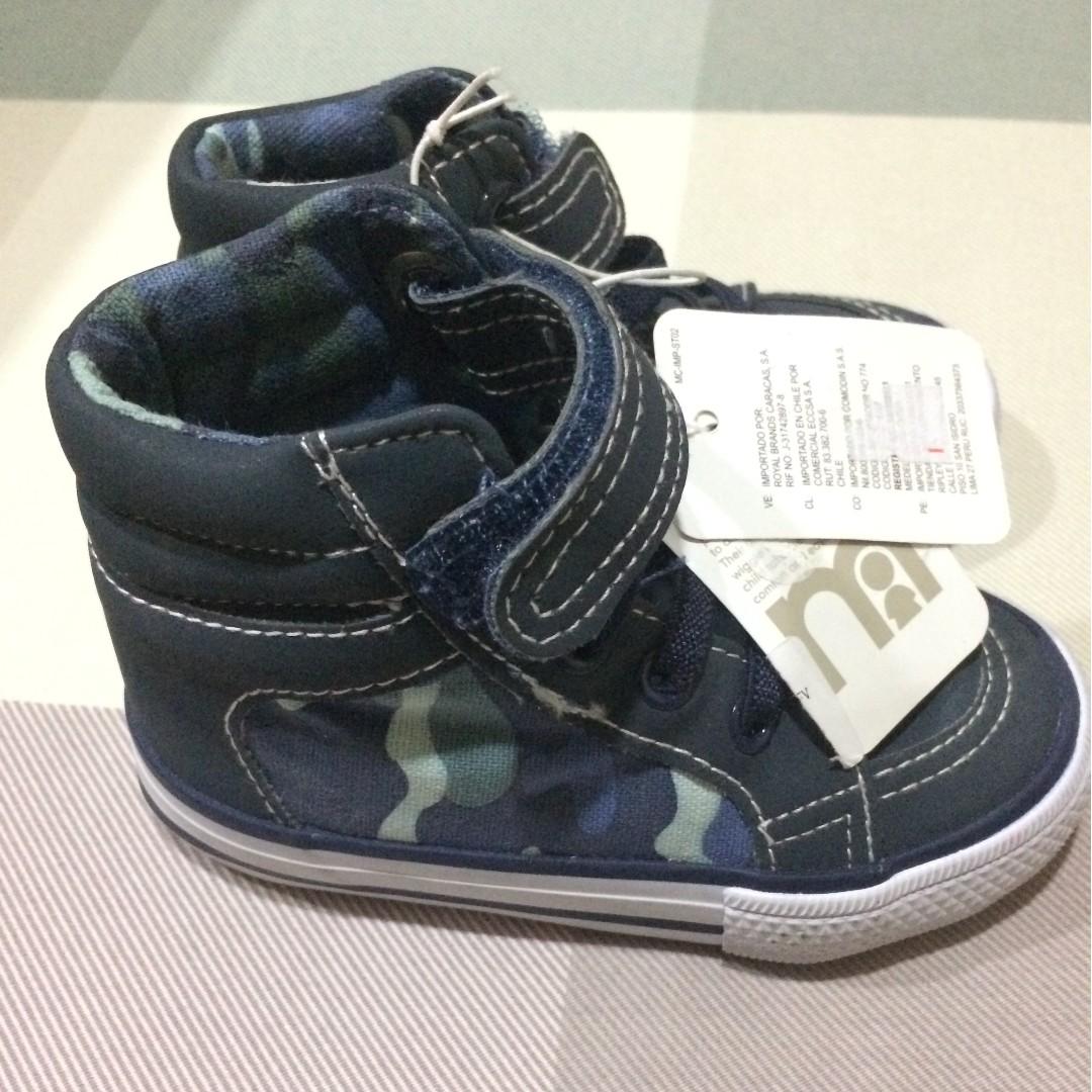 Sepatu Prewalker Bayi Mothercare Preppy Forest