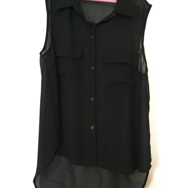Sheer black shirt