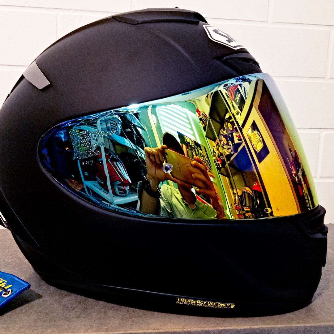 68572da4 Shoei Spectra Fire visor, Motorbikes, Motorbike Apparel on Carousell