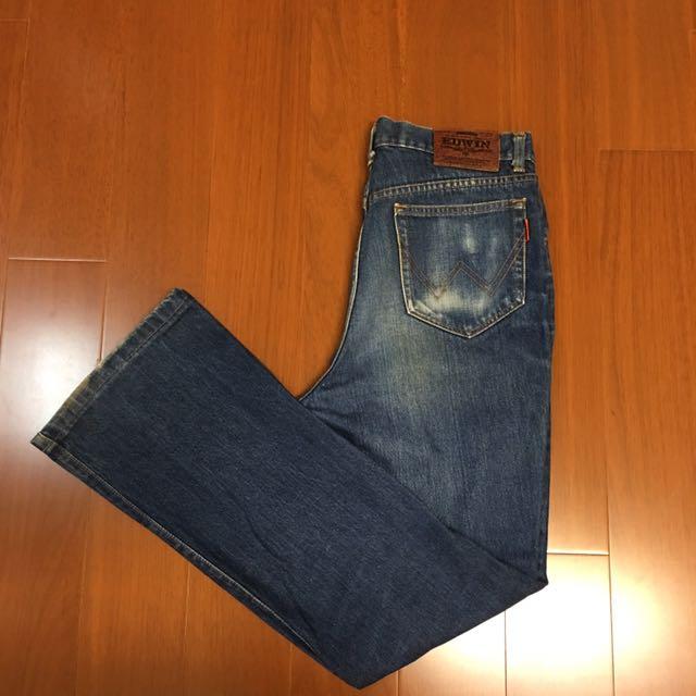 (Size 33w) Edwin 皮標復古牛仔褲