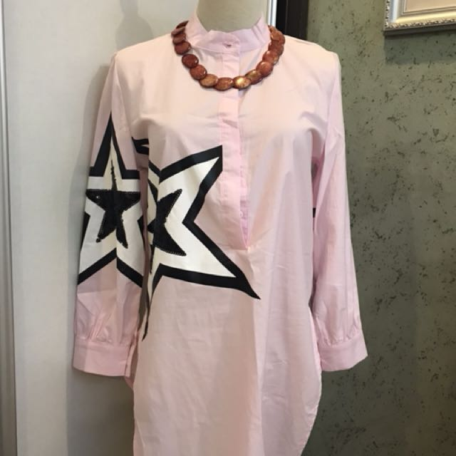 Star long blouse