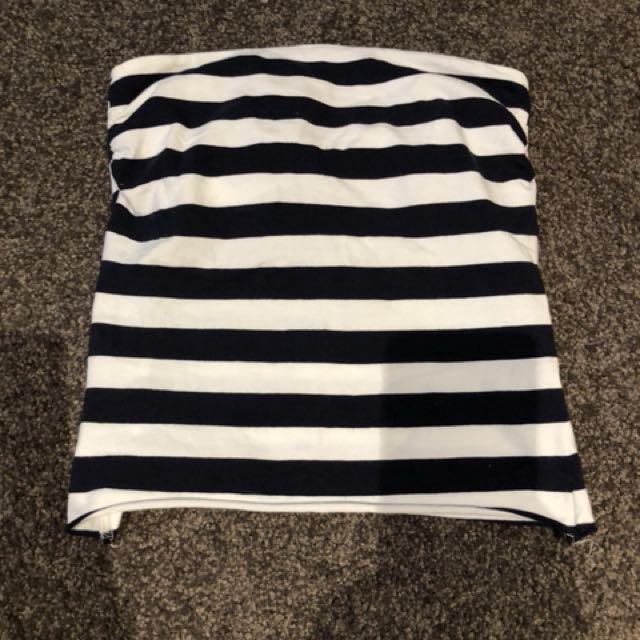 Striped Strapless tube