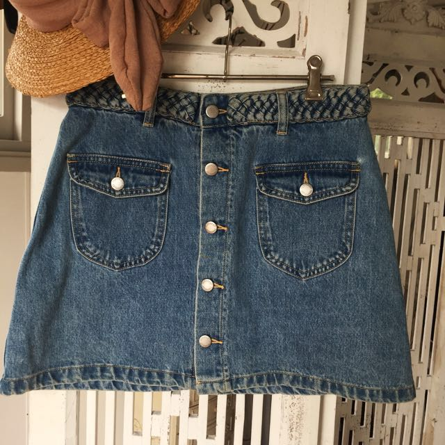 SUBTITLED || Denim Skirt