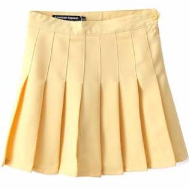 TENNIS SKIRT (PASTEL YELLOW)
