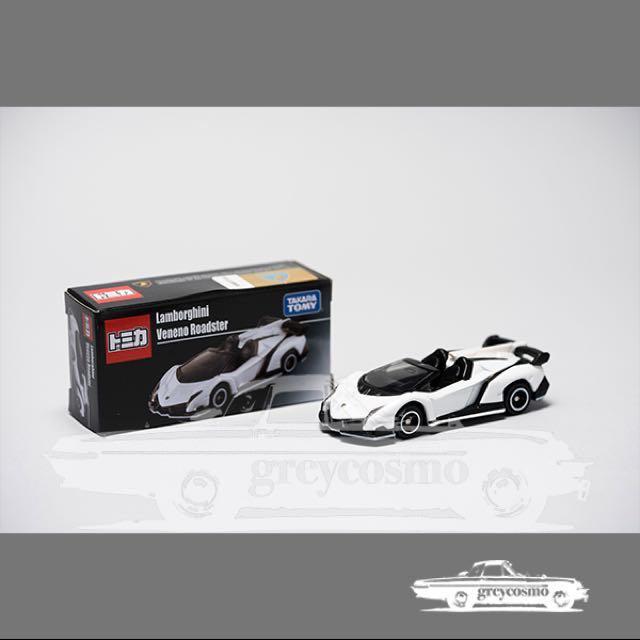 Tomica White Lamborghini Veneno Roadster Toys Games Bricks