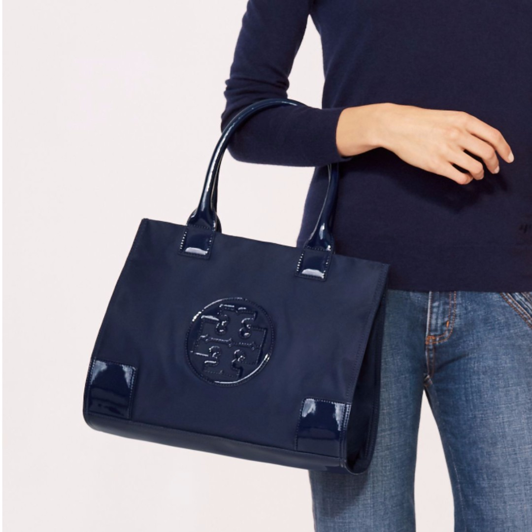2741080ebb79d4 Tory Burch - Ella Nylon Mini Tote, Luxury, Bags & Wallets on Carousell