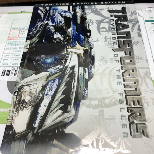 變形金剛Transformers Revenge Of The Fallen 2DVD限定鐵盒包裝