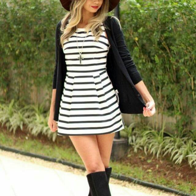 Ts: dress with cardigan