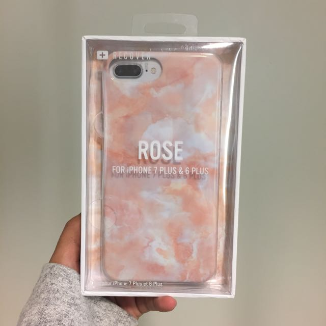 "Urban Outfitters Silicone ""Rose"" Marble Iphone 7+/6+ Case"