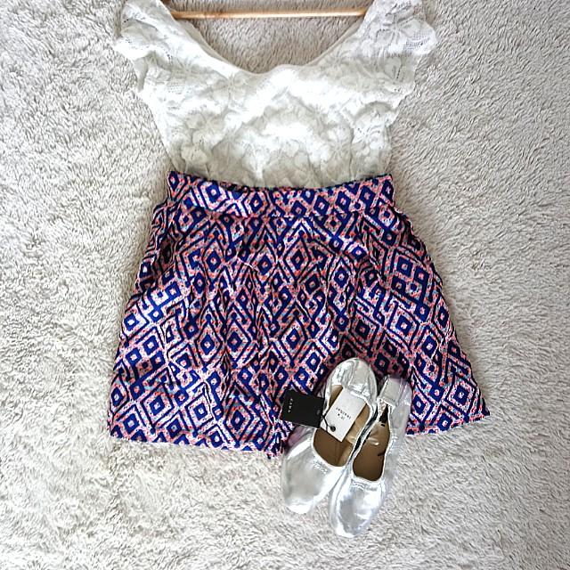 Vero Moda Aztec puff Skirt