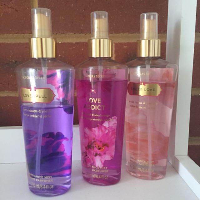 Victoria's Secret fragrance mists