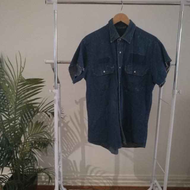 Vintage Denim Shirt - Size S