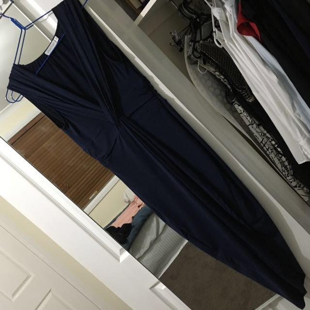 White Closet Navy Dress