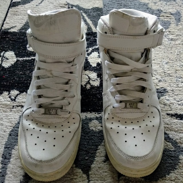 White Nike Air Force 1 High Tops