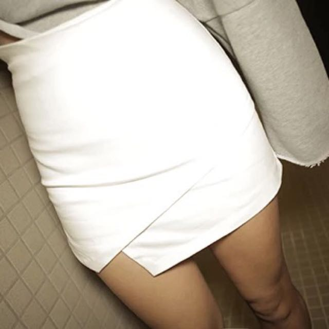White Wrap Skirt/ Skort