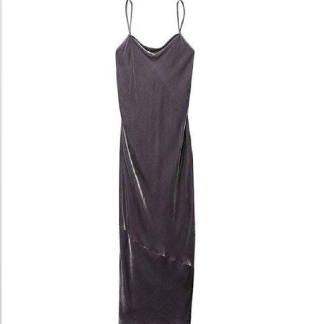 Wilfred Dress XSmall - Purple Velvet w/ Silk