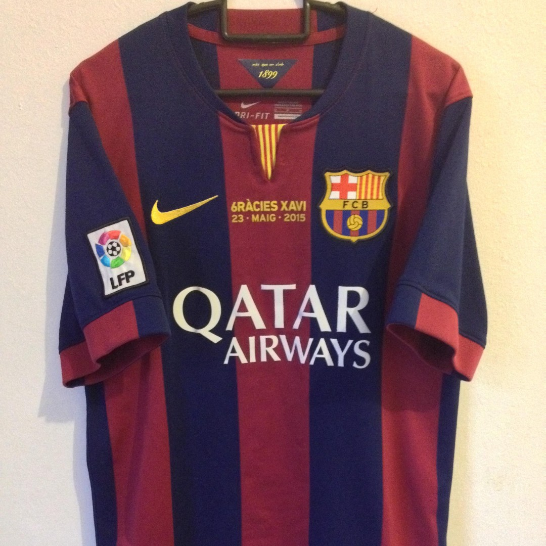 low priced 59e6a d560c Xavi FC Barcelona Jersey, Sports, Sports Apparel on Carousell