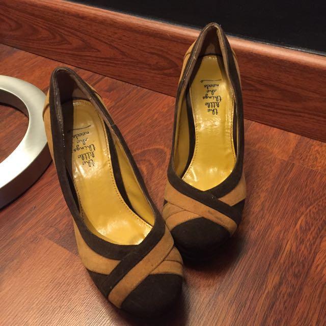 Yellow Brown Heels
