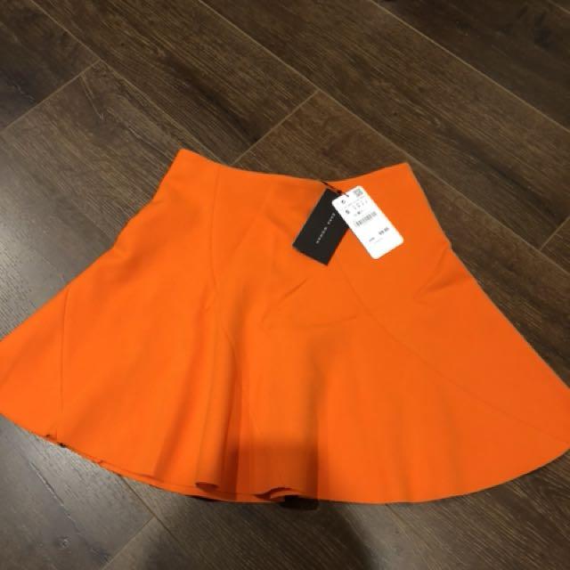 Zara skirt size s orange