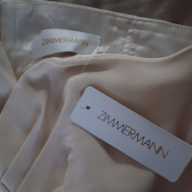 Zimmermann Cream Asymmetrical Dress