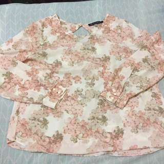 Rose and Olive Womens Floral Blouse