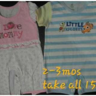2-3mos rompers for baby girl