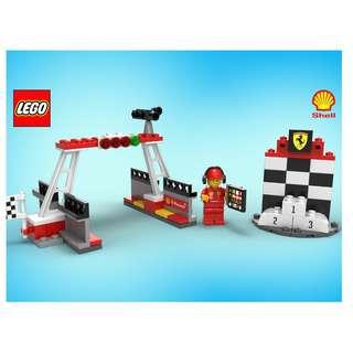 Lego Shell Ferarri 40194 Finish Line & Podium