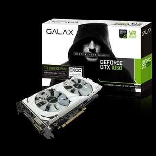 GALAX GeForce® GTX 1060 EXOC White 6GB 192-bit GDDR5