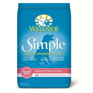 Wellness Simple Salmon & Potato Dog Food 24lb