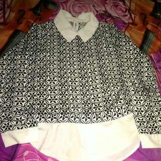 Blouse kemeja batik