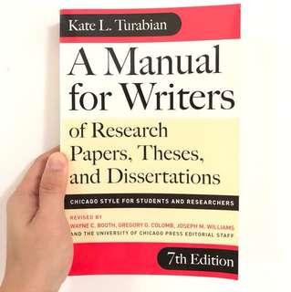 A manual for writers - Turabian