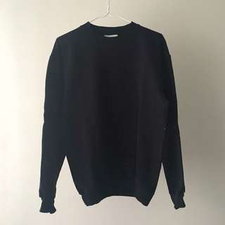 Black Crewneck Sweatshirt