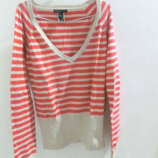 MANGO sweater garis-garis
