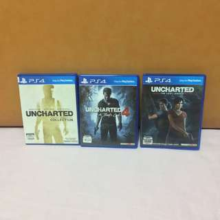 Uncharted series full set (PS4)