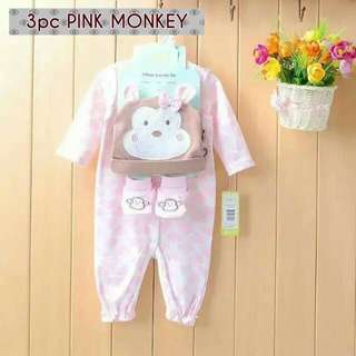 3pc Hearts Monkey Set