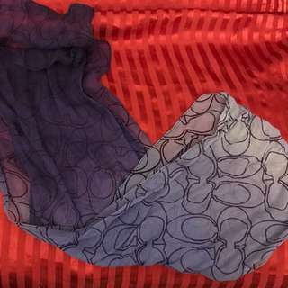 Coach 絲巾 紫色