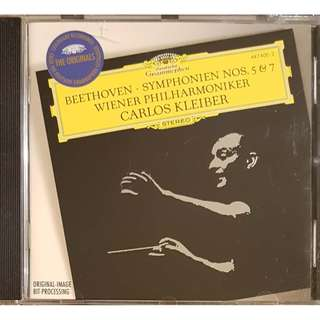 German Press CD Beethoven Symphonien Nos. 5 & 7 Carlos Kleiber Weiner Philhormiker