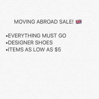 MASSIVE SALE ON ALL ITEMS