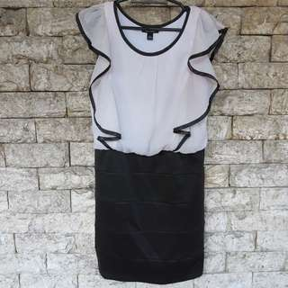 Preloved Black and white Dress