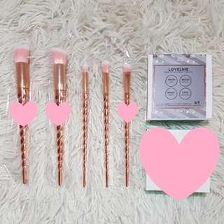 BN Rose Gold Unicorn Brushes