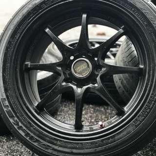 Ce28 16 inch sports rim almera tyre 70%